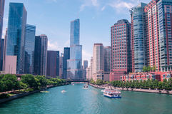 Chicago downtown in the beautiful day Stock Image
