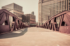 Chicago downtown bridge scene Stock Photography