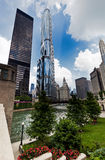 CHICAGO,  Downtown Chicago Modern Architecture Royalty Free Stock Image