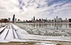 Chicago Downtown City. Lake Michigan Royalty Free Stock Photos