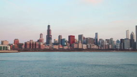 Chicago downtown cityscape stock footage