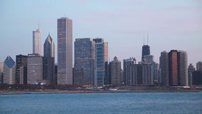 Chicago downtown cityscape stock video footage