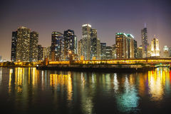 Chicago downtown cityscape panorama Royalty Free Stock Photos