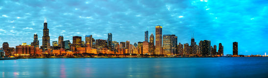 Chicago downtown cityscape panorama Royalty Free Stock Photography