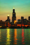 Chicago downtown cityscape Royalty Free Stock Image