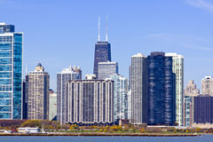 Chicago Downtown in Fall Royalty Free Stock Image