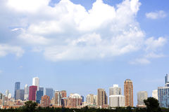 Chicago Downtown in Fall Royalty Free Stock Images