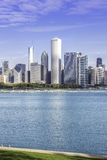 Chicago downtown in fall scenery Royalty Free Stock Photography