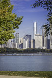Chicago downtown in fall scenery Stock Photography