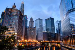 Chicago - downtown glitter (2) Royalty Free Stock Images