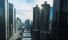 Chicago downtown in Illinois, USA Royalty Free Stock Images