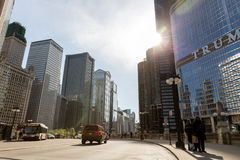Chicago downtown in Illinois, USA Royalty Free Stock Image