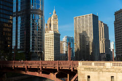 Chicago downtown in Illinois, USA.  stock photography