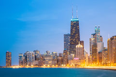 Chicago downtown and Lake Michigan Stock Photography