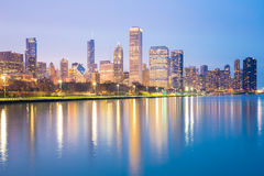 Chicago downtown and Lake Michigan Stock Photos