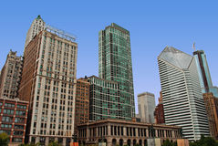 Chicago Downtown Millennium Park. Buildings Royalty Free Stock Photography