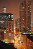 Chicago downtown, nightlife Royalty Free Stock Photos