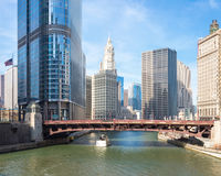 Chicago downtown panorama Stock Photos