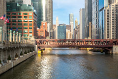 Chicago downtown river Royalty Free Stock Images