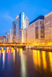 Chicago downtown and River Royalty Free Stock Photos
