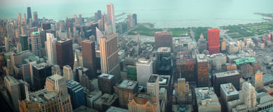 Chicago downtown from Sears Tower Stock Photo