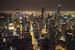 Chicago downtown from 95th floor royalty free stock photo