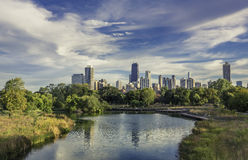 Chicago Downtown skyline. At autumn Royalty Free Stock Image