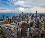 Chicago downtown skyline with beautiful cloud Stock Photography