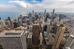 Chicago downtown skyline with beautiful cloud Stock Image