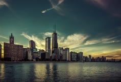 Chicago Downtown skyline Stock Photos