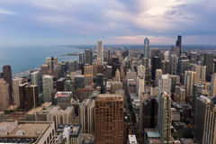 Chicago downtown skyline at sunset Royalty Free Stock Photography
