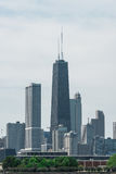 Chicago Downtown skyline view from a boat Stock Images