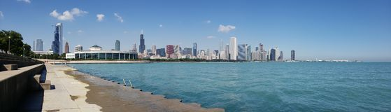 Chicago downtown skyline. View from planetarium Stock Photo