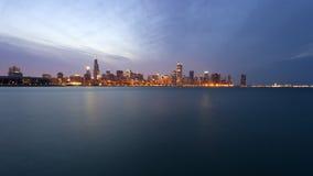 chicago downtown sunset στοκ φωτογραφία με δικαίωμα ελεύθερης χρήσης