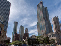 Chicago Downtown Tower Buildings Stock Photo