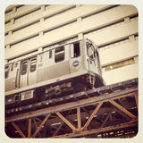 Chicago downtown train Stock Image