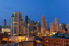 Chicago downtown at twilight. Royalty Free Stock Photos