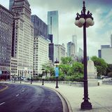 Chicago downtown Royalty Free Stock Image