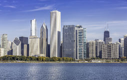 Chicago downtown view Royalty Free Stock Photos