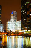Chicago downtown with the Wrigley building Stock Photography