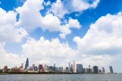 Chicago downtowskyskrapor Arkivbild