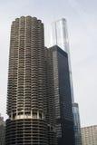 Chicago drei Wolkenkratzer Lizenzfreie Stockfotografie