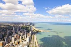 Chicago drev för Lakekust Arkivfoto