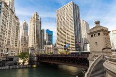 Chicago du centre en Illinois, Etats-Unis Photographie stock