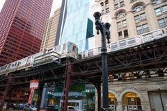 Chicago-Durchfahrt-Berechtigung stockfoto