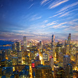 Chicago at dusk Royalty Free Stock Images