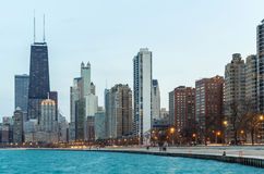 Chicago at dusk Royalty Free Stock Image