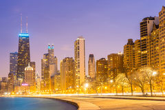 Chicago at dusk Royalty Free Stock Photography