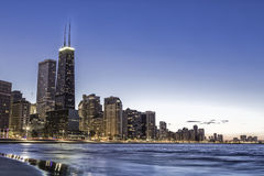Chicago by dusk royalty free stock photography