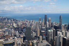 Chicago e lago Fotografie Stock